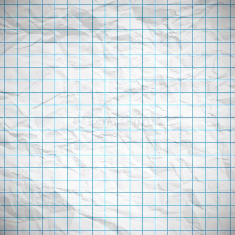 老消弱的笔记本纸 库存例证