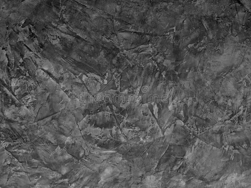 老深灰水泥墙壁,背景的混凝土墙纹理  免版税图库摄影