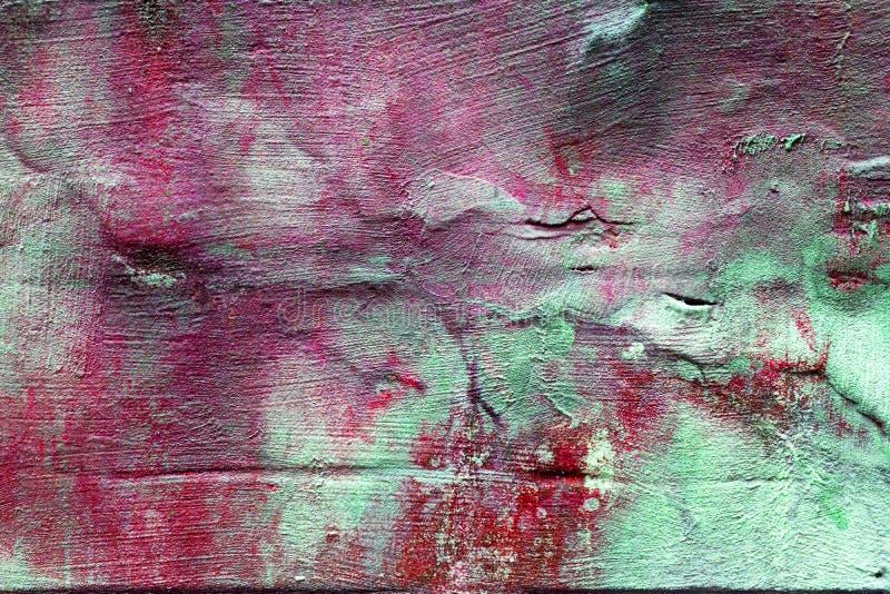 老混凝土墙,桃红色口气 免版税库存图片
