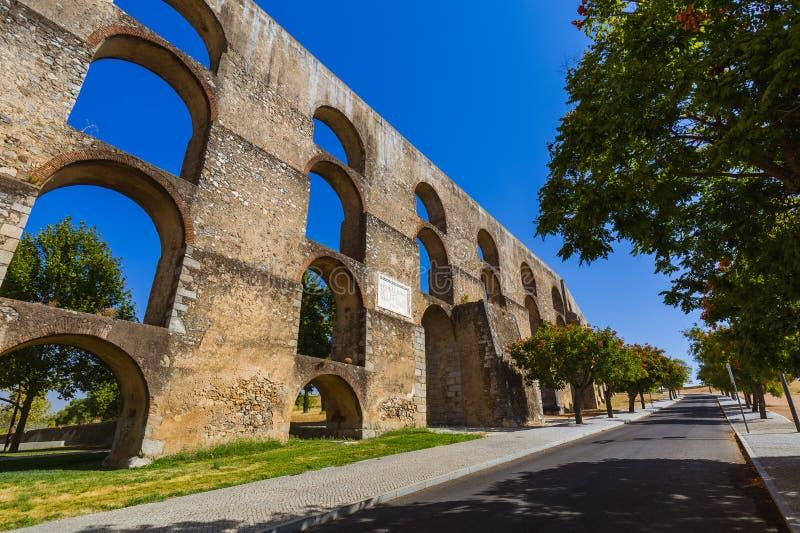 老渡槽- Elvas葡萄牙 免版税图库摄影
