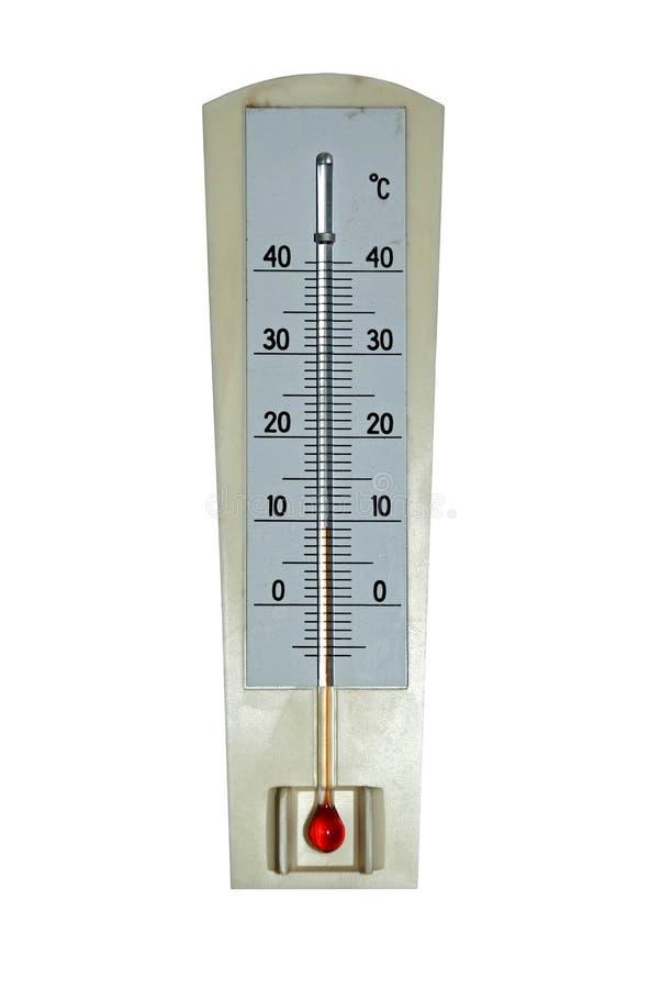 老温度计 免版税库存照片
