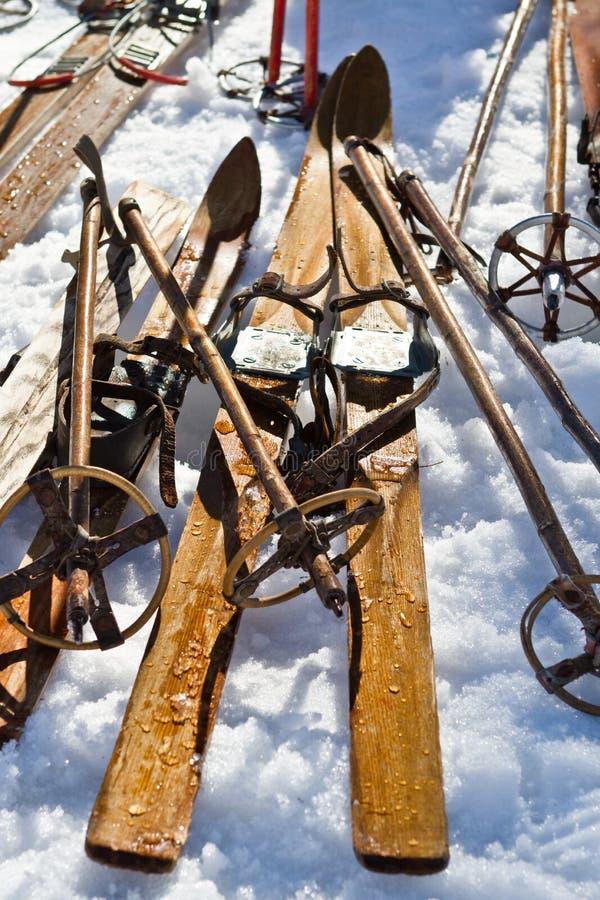 老滑雪 库存照片