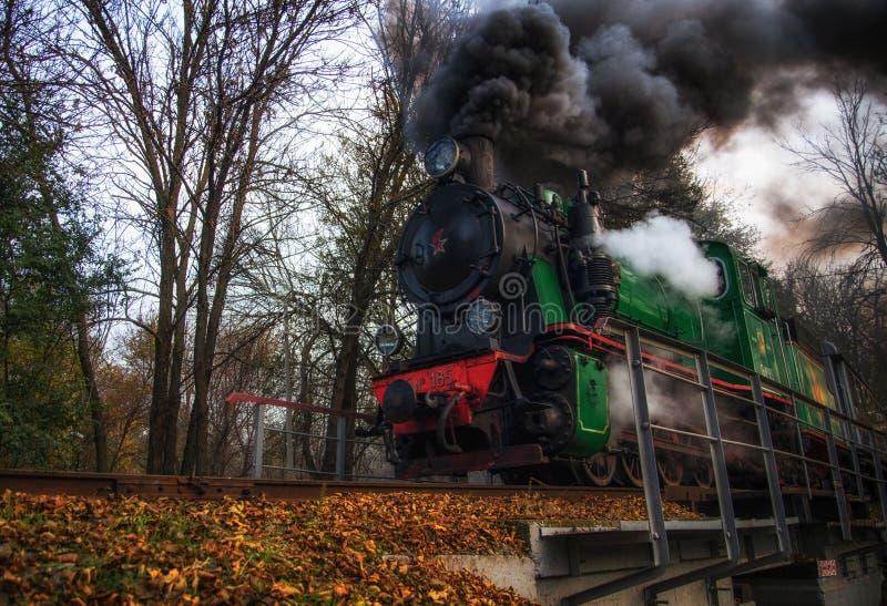 老火车在罗斯托夫On唐 免版税库存照片