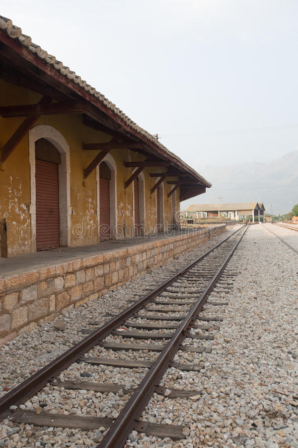 老火车站在中国 免版税库存图片