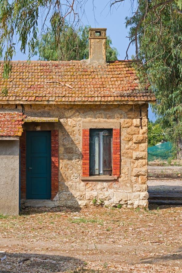 老火车站在希腊 库存照片