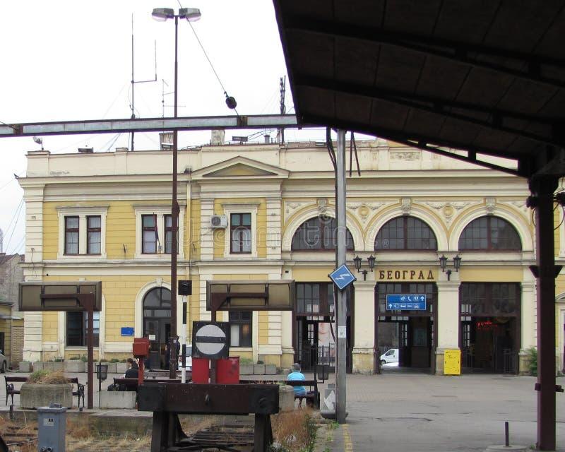 老火车站在贝尔格莱德 免版税库存图片