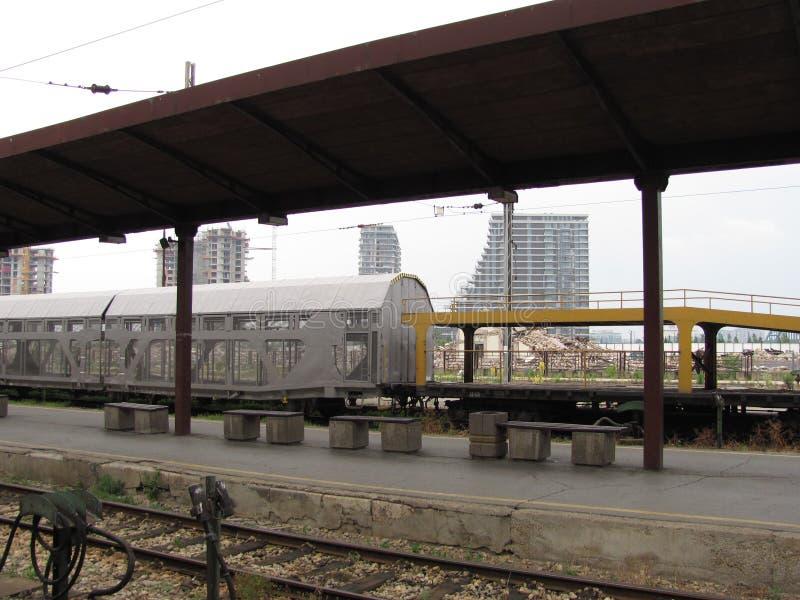 老火车站在贝尔格莱德 免版税库存照片