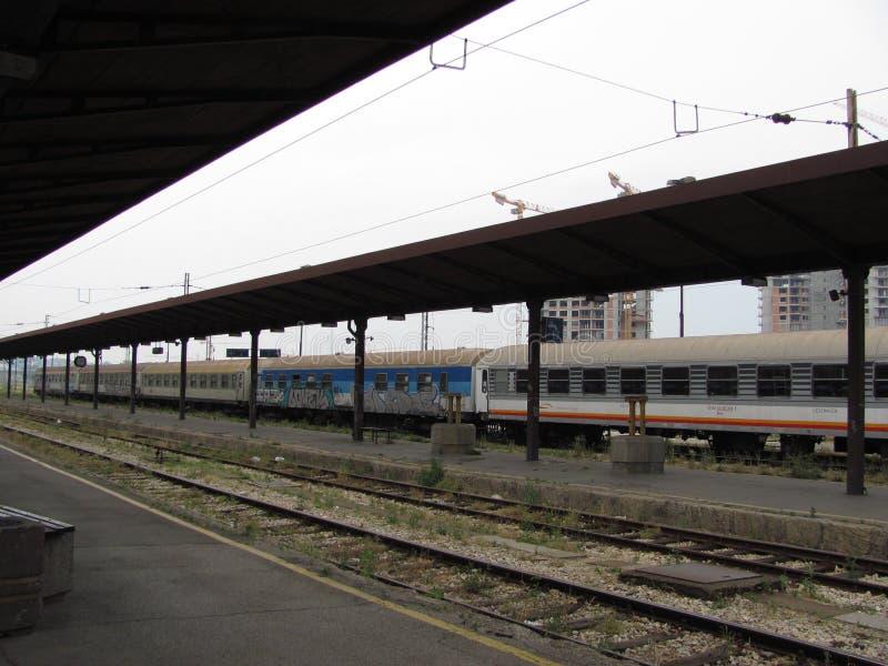 老火车站在贝尔格莱德 库存照片