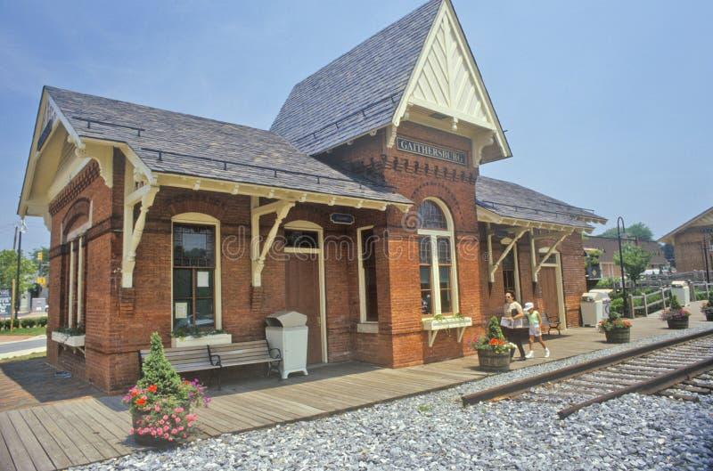 老火车站,盖瑟斯堡,马里兰 免版税库存照片