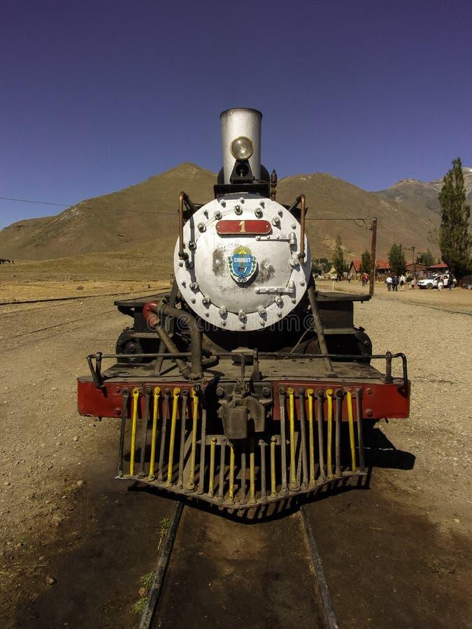 老火车La Trochita在阿根廷 免版税库存图片