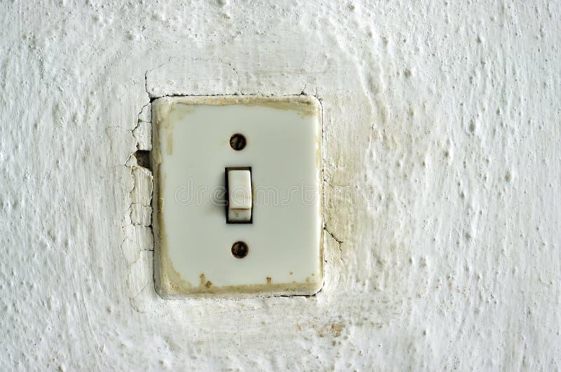 老灯开关 库存照片
