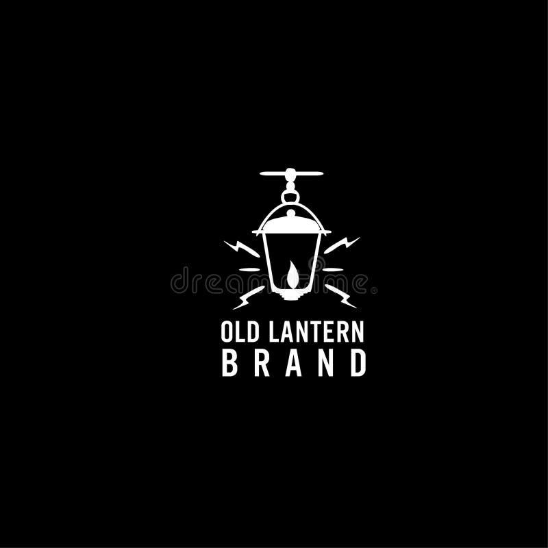 老灯笼传染媒介商标 向量例证