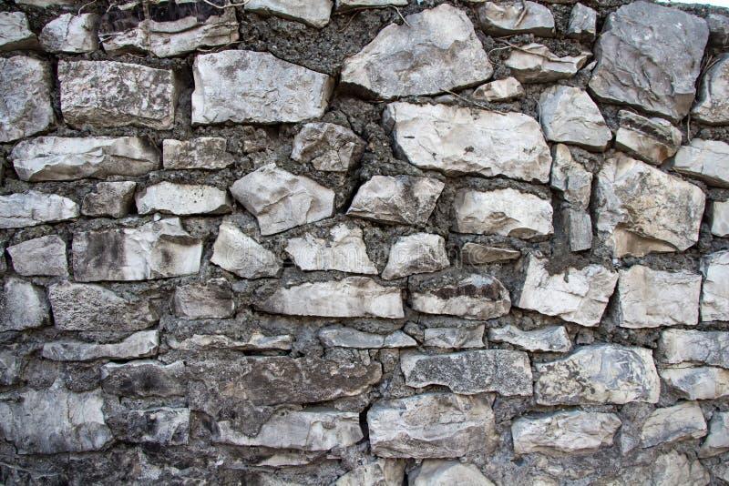 老灰色石墙照片  免版税库存照片