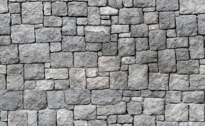 老灰色石墙,无缝的背景纹理 免版税库存照片
