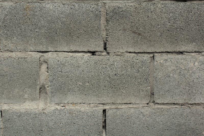 老灰色砖墙背景 免版税库存照片
