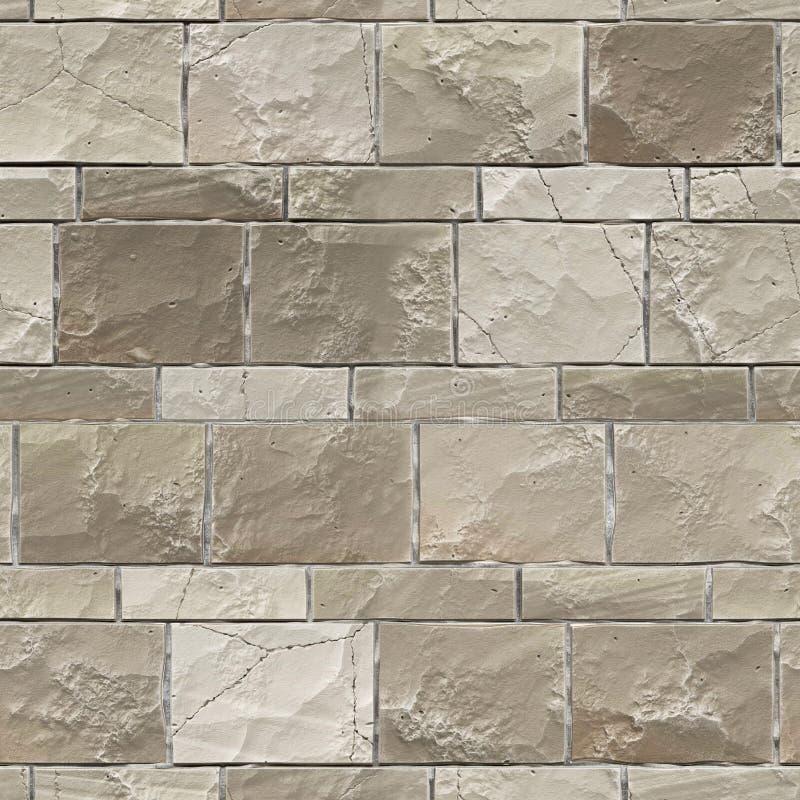 老灰色难看的东西brickwall无缝的纹理  3d回报 库存例证