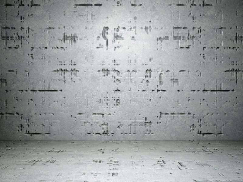 水泥地板和墙壁 免版税图库摄影