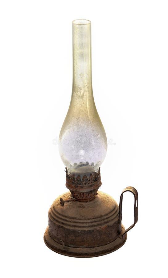 老煤油灯 免版税库存照片