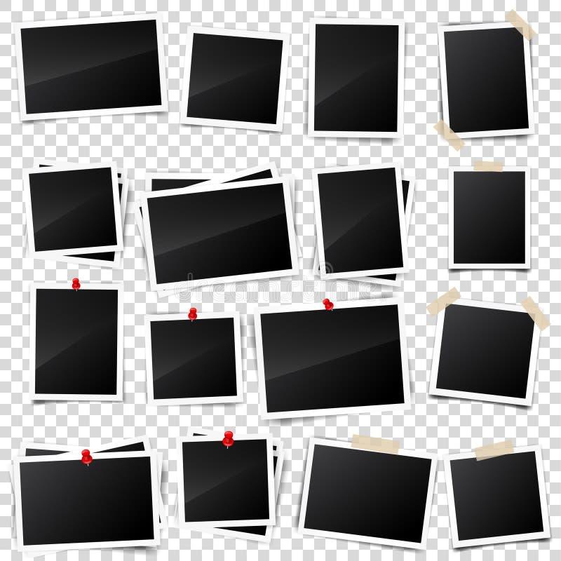 老照片卡片,被雕刻的边,框架,影片 减速火箭,与阴影的葡萄酒照片 数字快照,图象 摄影艺术 库存例证