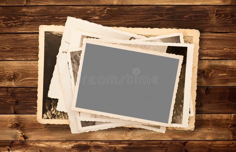 老照片堆 库存图片