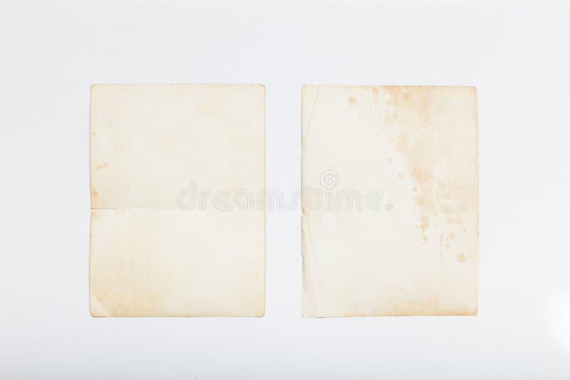 老照片葡萄酒框架,纸册页明信片 免版税库存照片
