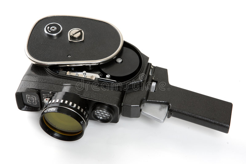 老照相机电影 库存照片