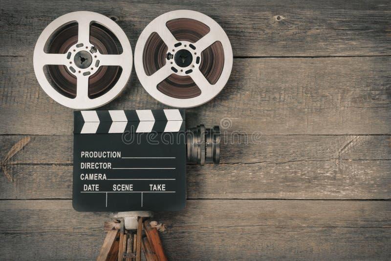 老照相机电影 免版税库存图片
