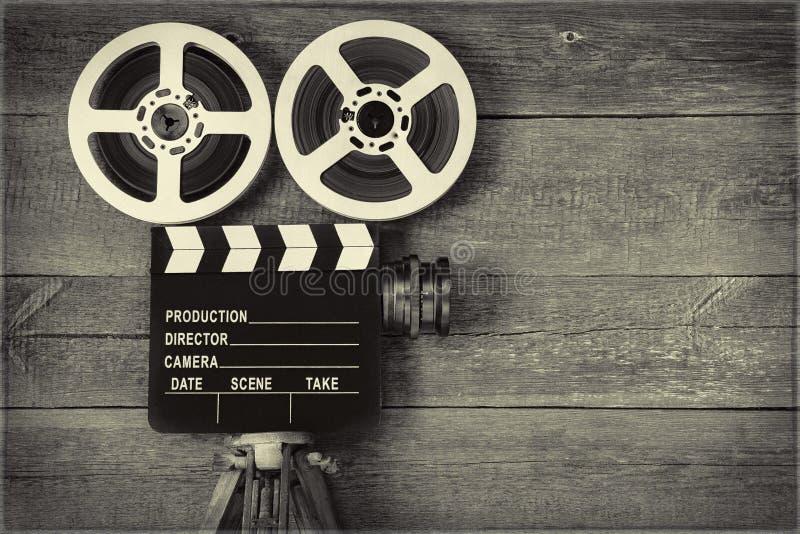 老照相机电影 免版税图库摄影