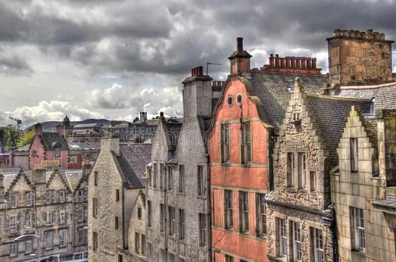 老爱丁堡屋顶  免版税库存图片