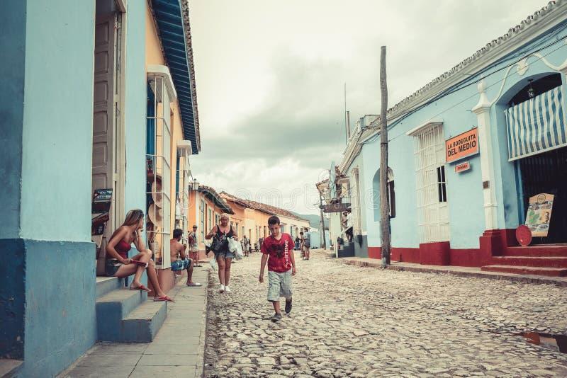 老特立尼达的街道 库存照片