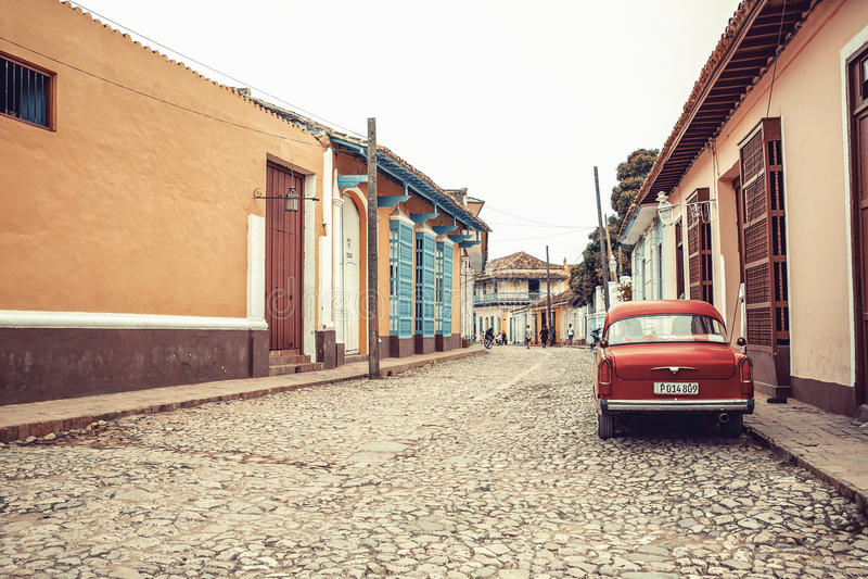 老特立尼达的街道 库存图片