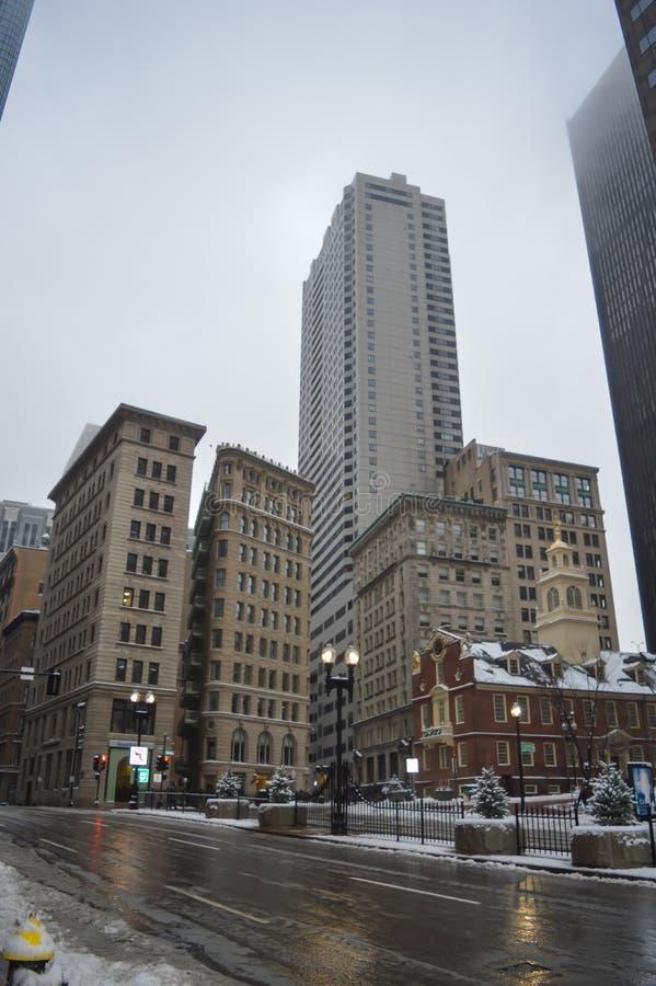 老状态议院在波士顿, 2016年12月11日的美国 免版税库存图片