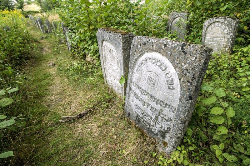 老犹太cementery 免版税库存图片