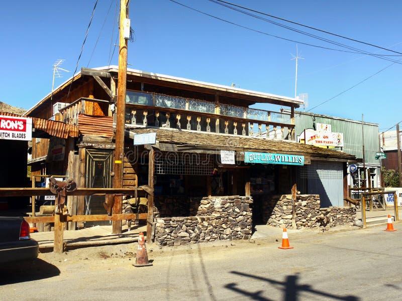 老狂放的西部牛仔镇,鬼城 免版税库存照片