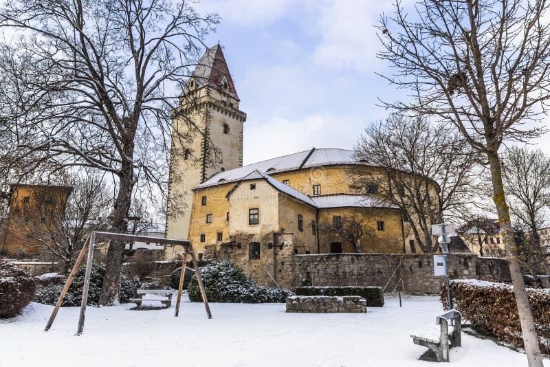 老王宫在弗赖施塔特-上奥地利 库存图片