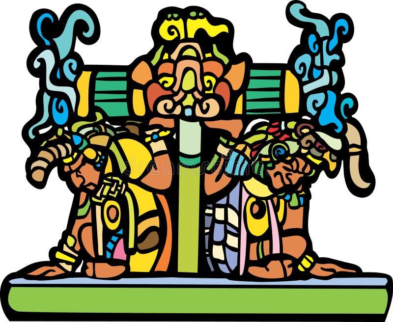 老玛雅人 向量例证