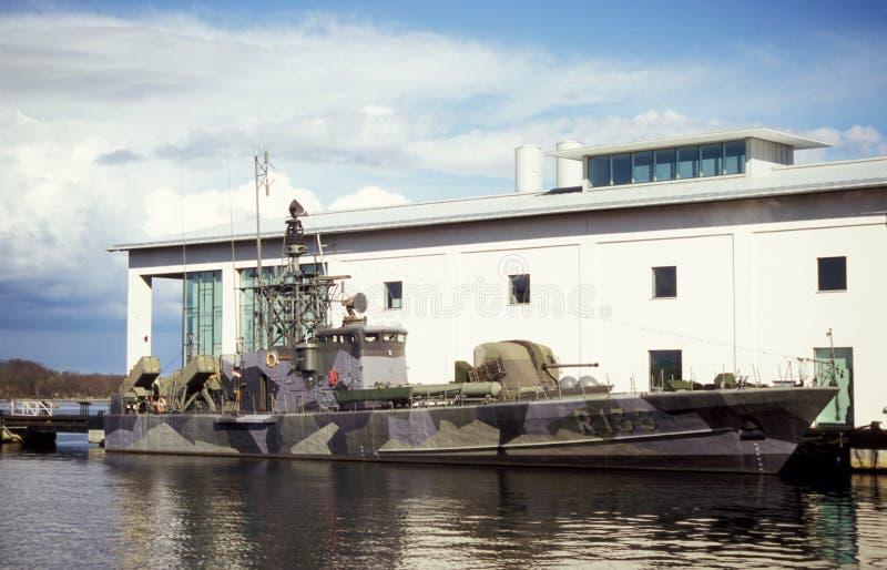 老瑞典导弹小船角宿 库存照片