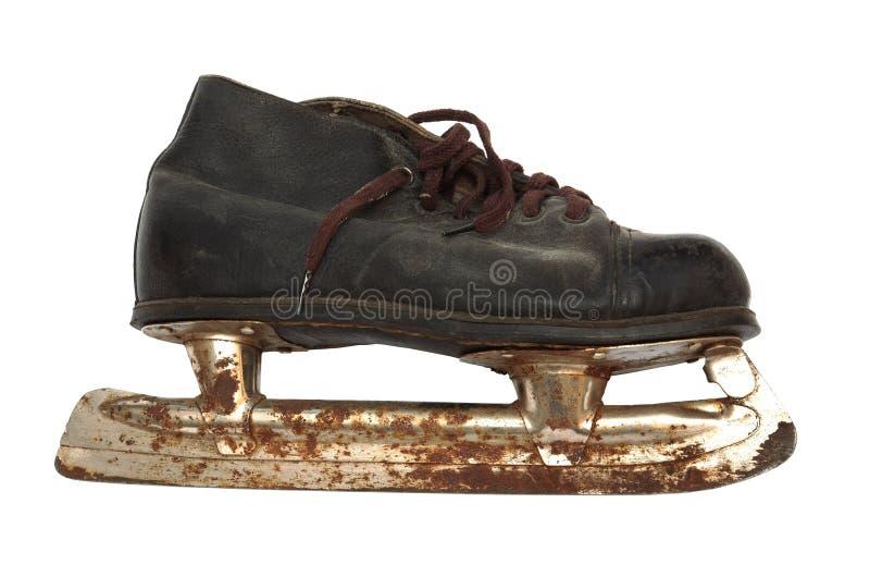 老生锈的冰鞋 库存照片