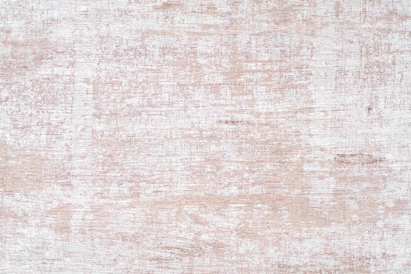 老生锈的白色被绘的木纹理无缝的生锈的难看的东西背景 在木墙壁板条的被抓的白色油漆  免版税库存照片
