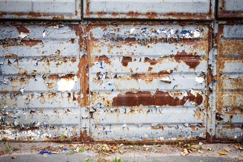 老生锈的金属墙壁 图库摄影