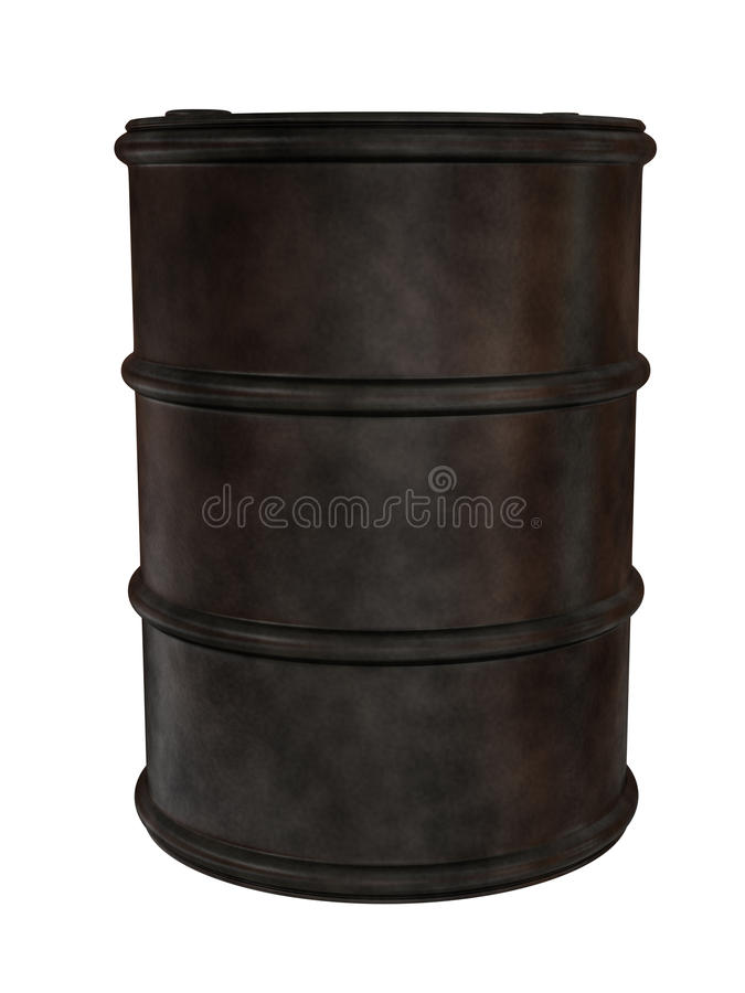 老生锈的金属桶 库存例证