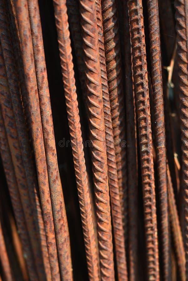 老生锈的钢电枢, closep 免版税库存图片