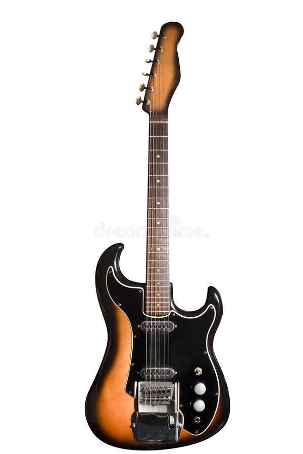 老电吉他 免版税库存图片