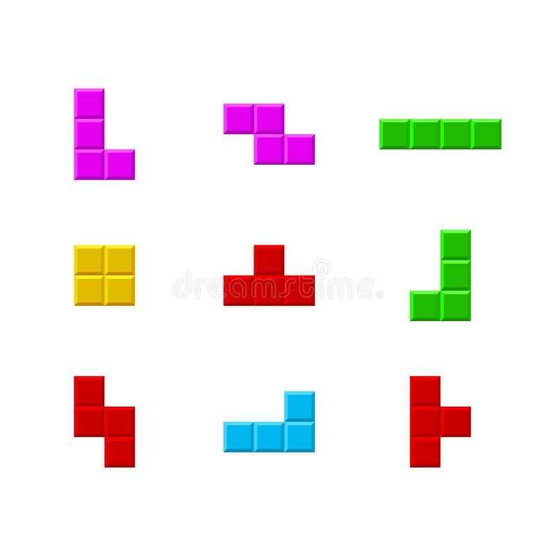 老电子游戏颜色象集合 ?? 向量例证