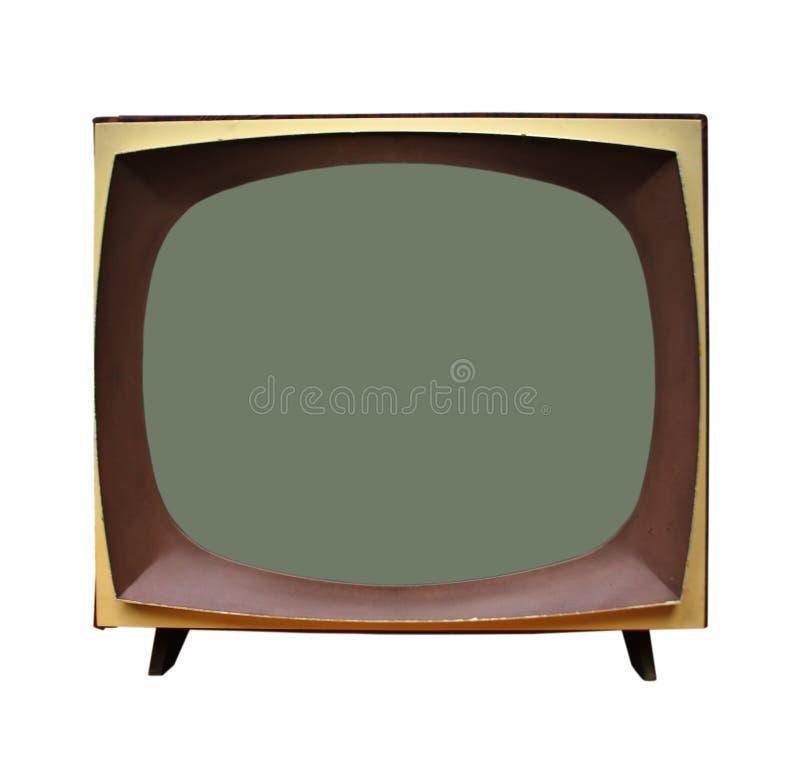 老电视机 免版税库存照片