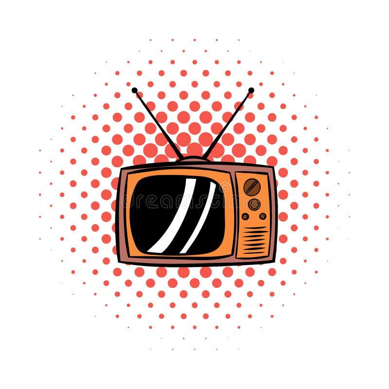 老电视漫画象 向量例证