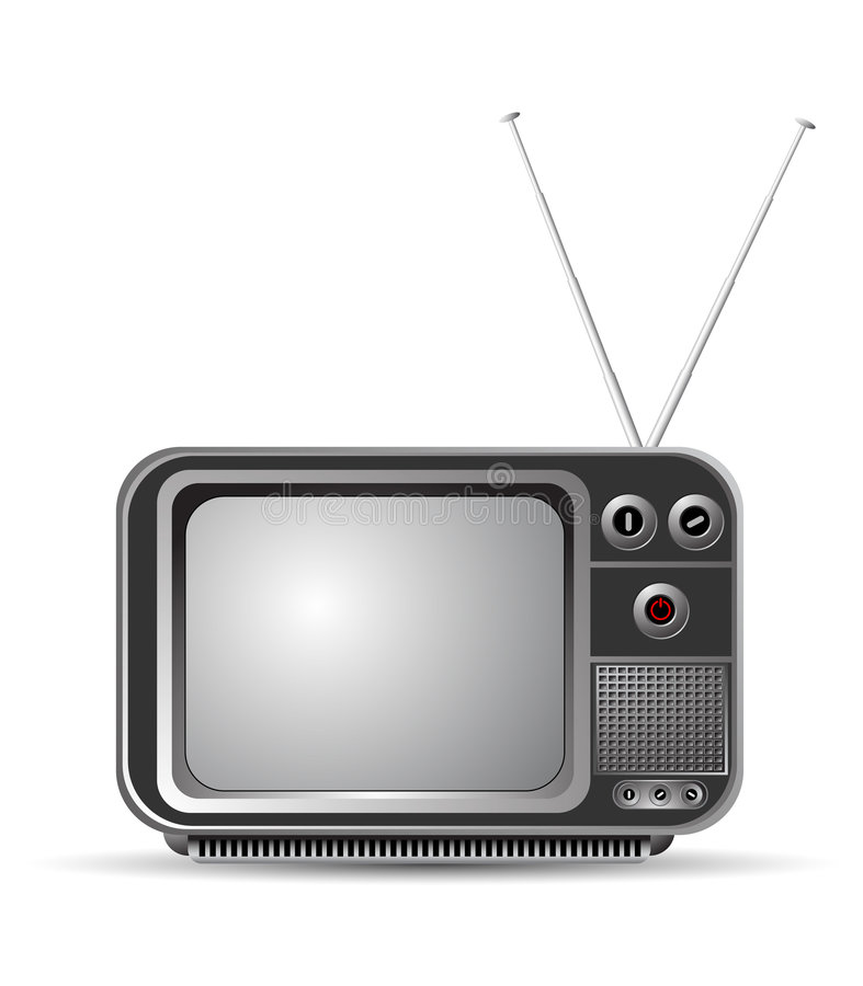 老电视葡萄酒 库存例证
