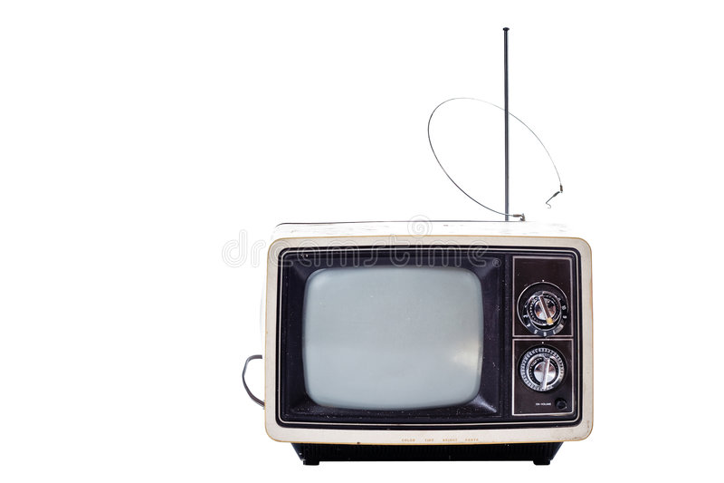 老电视 库存照片