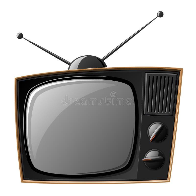 老电视 向量例证