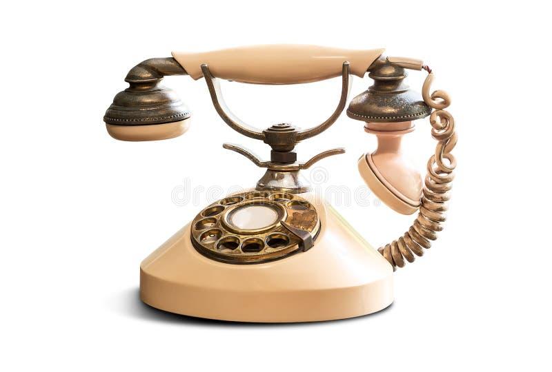 老电话葡萄酒 免版税库存图片